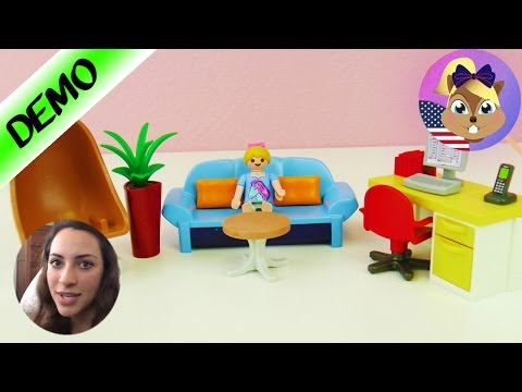 Playmobil Teen Bedroom for Hannah!? Demo English - With Futon and Bird Swing!