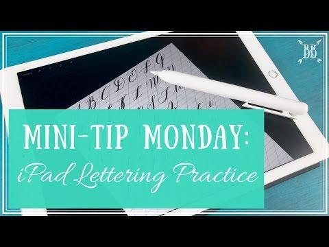 iPad Lettering Practice Tutorial