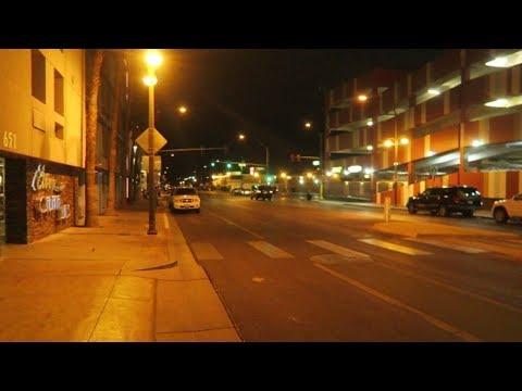 Walking Ogden Ave  Downtown Las Vegas Night Vlog 2018