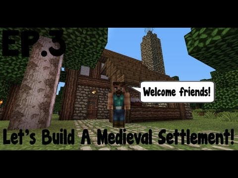 Minecraft Let's Build Medieval Settlement EP.3 Bakery