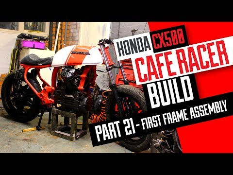 Honda CX500 Cafe Racer Build 21 - First assembly of the bike