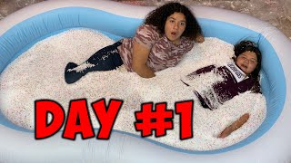 24 HOURS OVERNIGHT IN A POOL OF FOAM BEADS