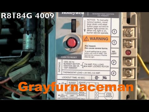 How to wire the oil furnace cad cell relay