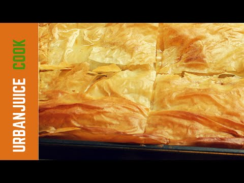 Spinach and Feta Cheese Pie With Filo Pastry