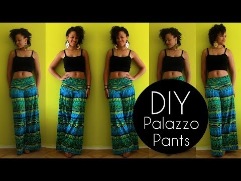 DIY PALAZZO PANTS IN 20MIN | NO SEWING PATTERN | DIY CLOTHES LIFE HACKS