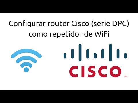 Cómo configurar un router Cisco como repetidor WiFi - 2016