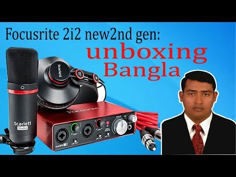Focusrite Scarlett (2nd Gen)Audio Interface Bundle - Unboxing & Review By Ruhul Amin 350