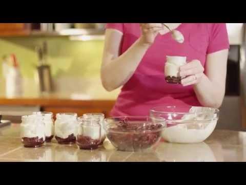 Tart Cherry Yogurt Cups