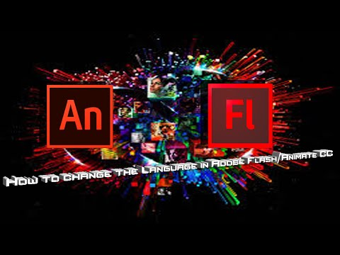How to change the language in Adobe Flash/Animate