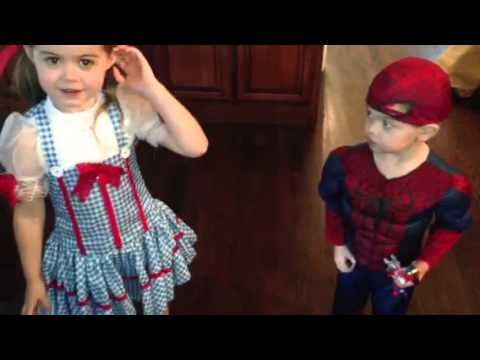Dorothy and Spider-Man get ready for a party