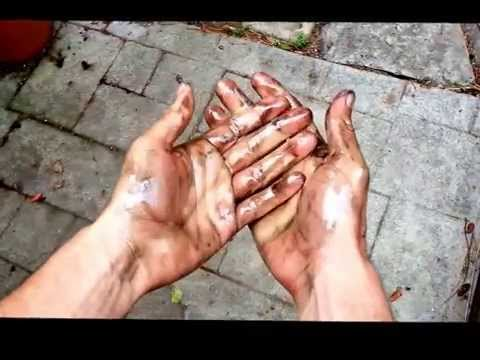 How-to Clean Greasy Hands Tutorial