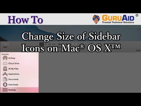 How to Change Size of Sidebar Icons on Mac® OS X™ - GuruAid