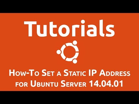 How-To Set a Static IP Address for Ubuntu Server 14.04