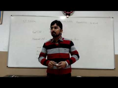 Class 12 - Economics - Dr. Asad Ahmad - Macro Economics - Real GDP and Nominal GDP