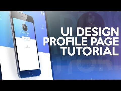 Photoshop Tutorial: UI Design - Profile Page!