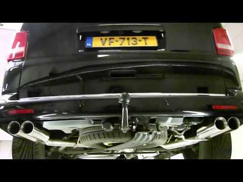Volkswagen T5gp 2.0 BiTDi met duplex uitlaatsysteem DPF delete & tuning - EPS Uitlaten BV -