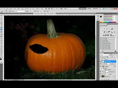 Photoshop Pumpkin Carving Part 1
