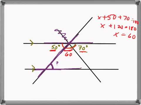 Find missing angles (2 transversals)