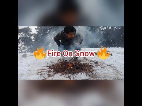 🔥🔥Fire On Snow🔥🔥    ☃️☃️Playing Snow At Phulchoki☃️    Phuchoki Vlog☃️   Phulchoki Snow 2017  ☃️