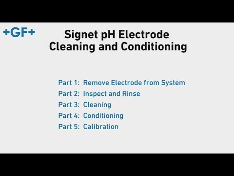Signet pH Electrode Cleaning and Conditioning