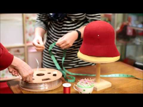 How to make a 1920's  Wool Felt Cloche Hat  - Adrienne Henry Millinery workshop