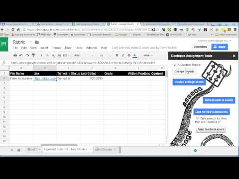 Creating a Goobric Rubric to Score Student Work