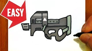 How To Draw Fortnite Gun Suppressed Sniper Rifle Easy Cute