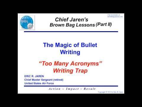 The Magic of Bullet Writing #12: The