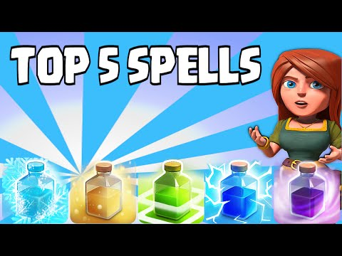 Clash of clans - Top 5 Spells (Ranking from Worst to Best)