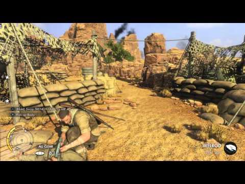 Sniper Elite 3 Gaberoun Part 1 Stealth Playthrough on PS4