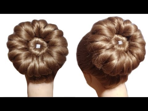 New Trick For Bridal Puff And Hairstyle Step By Step Hindi