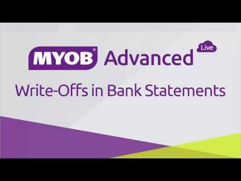 Write Offs in Bank Statements