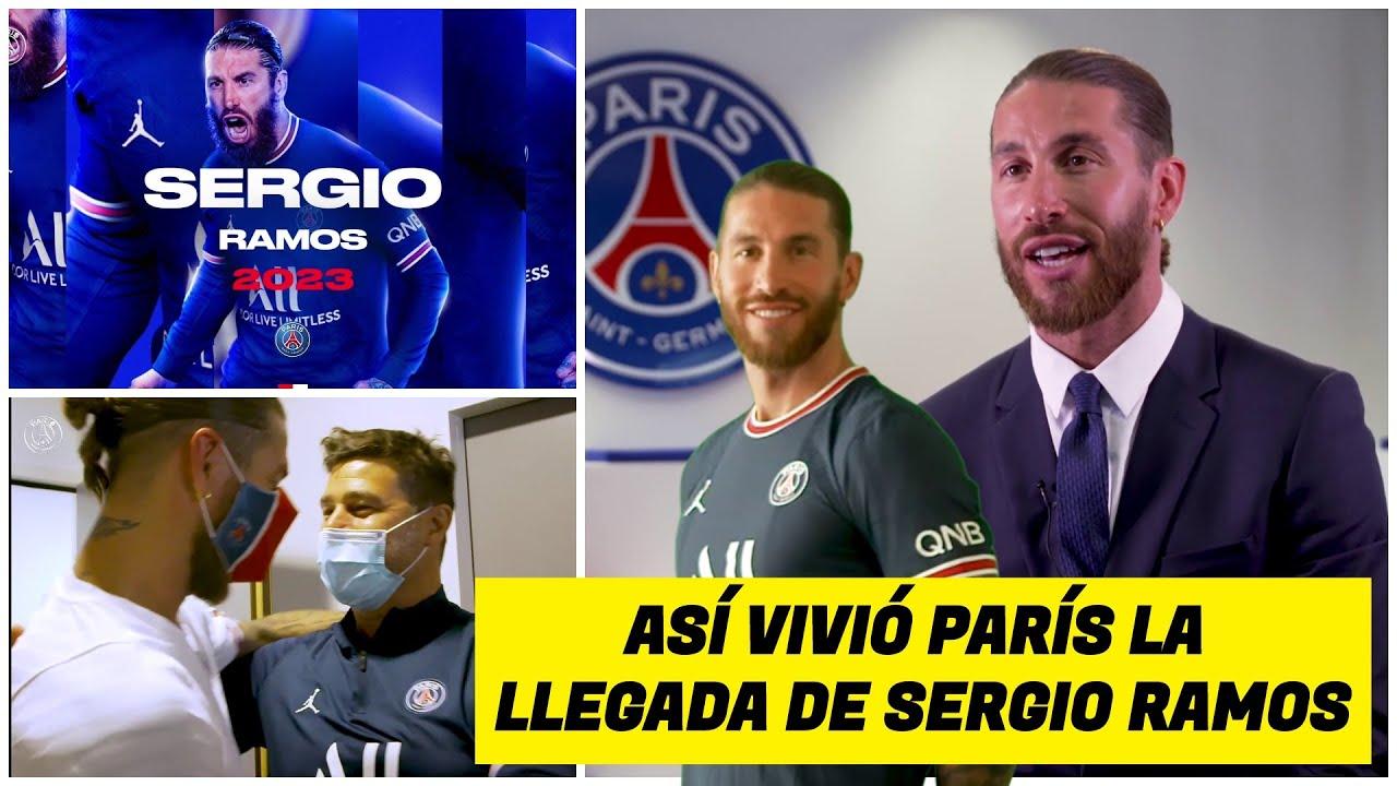 Así fue la llegada de SERGIO RAMOS al Paris Saint Germain. Sus primeras horas con el PSG   Ligue 1