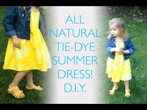 Toddler TIE DYE DRESS sewing tutorial