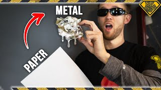 Download Using ONLY Paper To Melt Metal Video