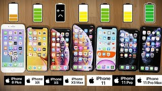 Ultimate iPhone Battery Comparison: iPhone 11 Pro Max vs 11 Pro, 11, XS Max, XS, XR and 8 Plus