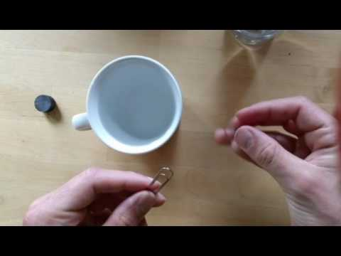 Paperclip Floating On Water Surface Trick (Also Selfmade Homemade Magnetic Compass)