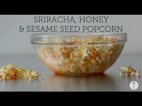 Sriracha Honey Seasame Popcorn