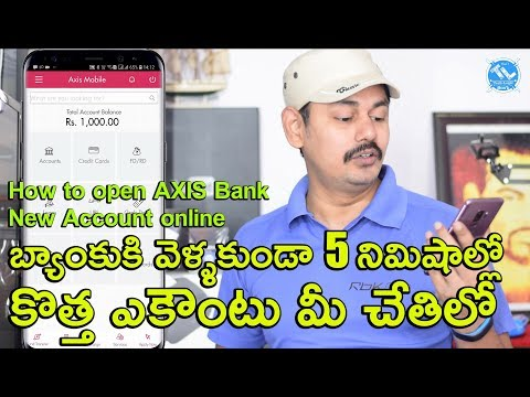 How to open AXIS Bank  New Account in Mobile online | in Telugu | Tech-Logic