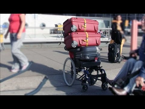 Handling your baggage and wheelchairs at airport