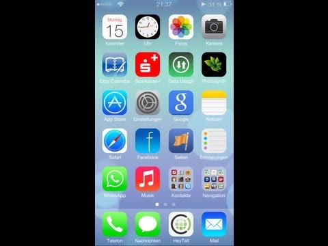 iOS 7 Special 2/4 - iOS 7 Theme Homescreen + App Icons in iOS 6 - Cydia Tweak / Theme