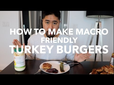 How To Make Macro Friendly Turkey Burgers. No Breadcrumbs!