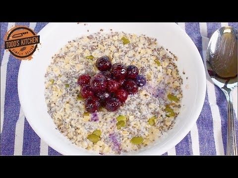 Blueberry Oats Breakfast Prep recipe with Chia Seeds
