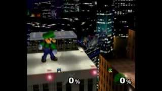 Melee - Luigi wins against every level nine CPU by doing absolutely nothing