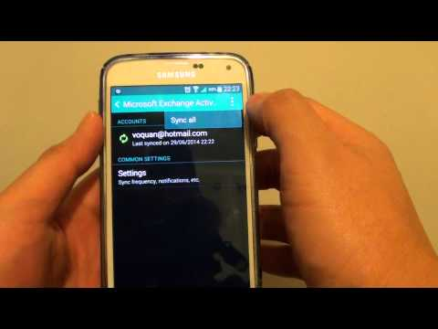 Samsung Galaxy S5: How to Remove Microsoft Outlook Exchange Account