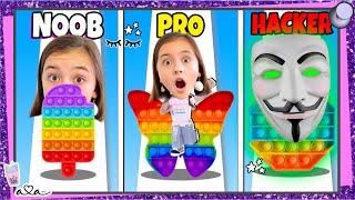 Noob vs. Pro vs. Hacker in FIDGET RUSH!! Schafft Ava ALLE Level?!  💜 Alles Ava Gaming