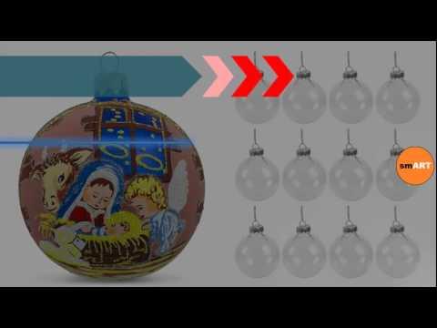 Glass Ball Ornaments - Christmas Tree Glass Ornaments