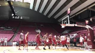 Inside Alabama basketball practice in hyper speed