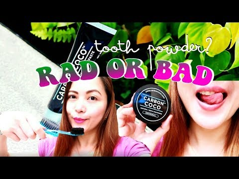 rad or bad: tooth powder?! [carbon coco teeth whitening test] #TheWickeRmoss