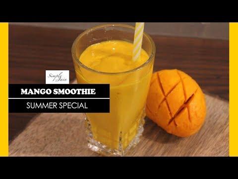 Mango Smoothie   How To Make Mango Milkshake Recipe   Summer Special   Simply Jain